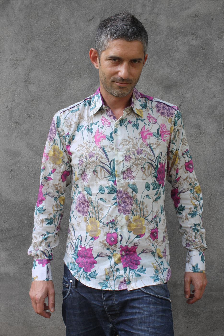 chemise a fleurs pour homme. Black Bedroom Furniture Sets. Home Design Ideas
