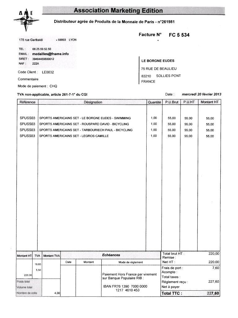 information facture importance de la facture pour la comptabilit. Black Bedroom Furniture Sets. Home Design Ideas