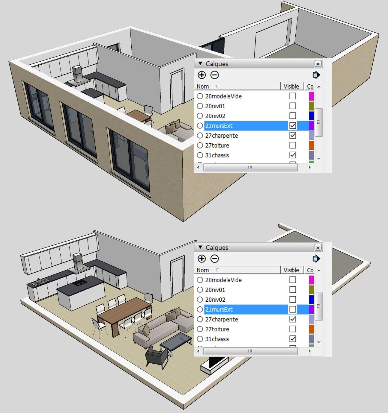 utiliser sketchup ce que je vous conseille en la mati re. Black Bedroom Furniture Sets. Home Design Ideas